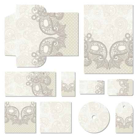 ornate floral business style templates Vector