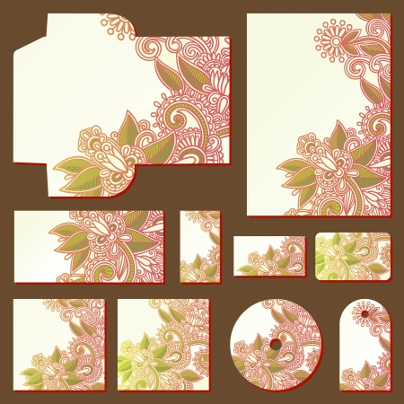 ornate floral business style templates
