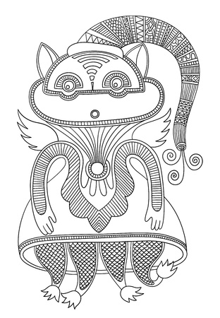 original modern cute ornate doodle fantasy monster personage  Karakoko style Stock Vector - 14688992