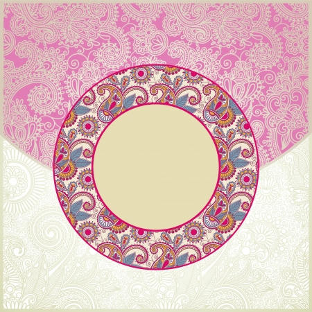 Pink ornamental cirkle floral pattern Vector