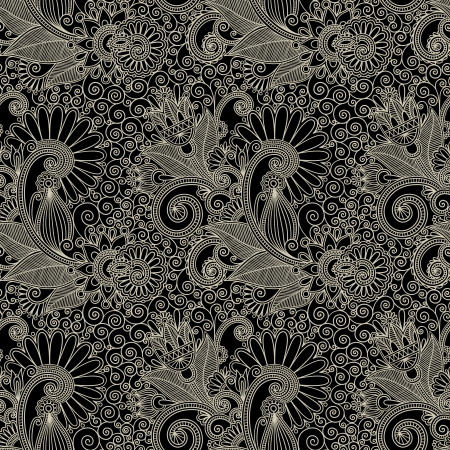 hand draw ornate seamless flower paisley design background Stock Vector - 14689039