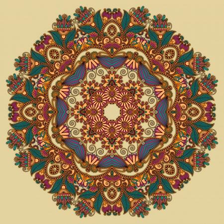 Circle ornament, ornamental round lace Stock Vector - 14689057