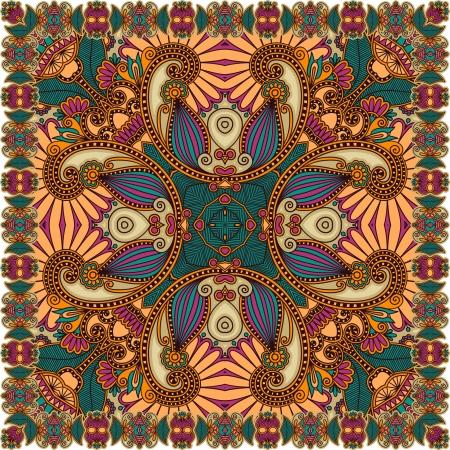 head scarf: Traditional Ornamental Floral Paisley Bandanna  Illustration
