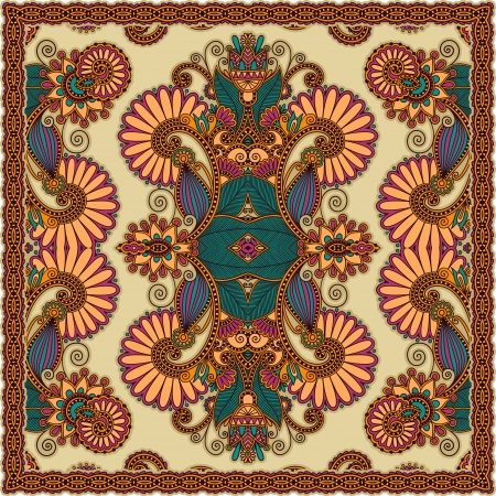 head scarf: Traditional Ornamental Floral Paisley Bandanna