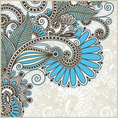decorative style: ornate card announcement Illustration