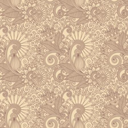 disegni cachemire: disegnare a mano ornato senza soluzione di continuit� fiore sfondo disegno paisley
