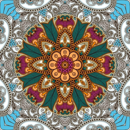 Traditional Ornamental Floral Paisley Bandanna Stock Vector - 14957877