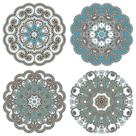 arabic style: Circle ornament, ornamental round lace