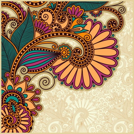 ukrainian: flower background design  Illustration