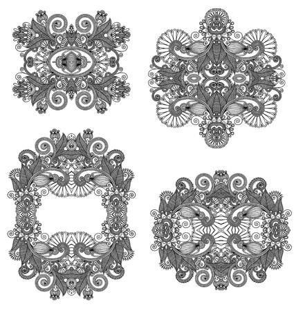 four ornamental floral adornment Stock Vector - 14957948