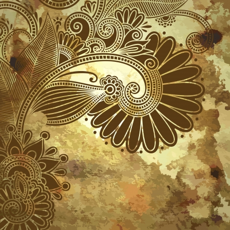 flower design on grunge background Vector