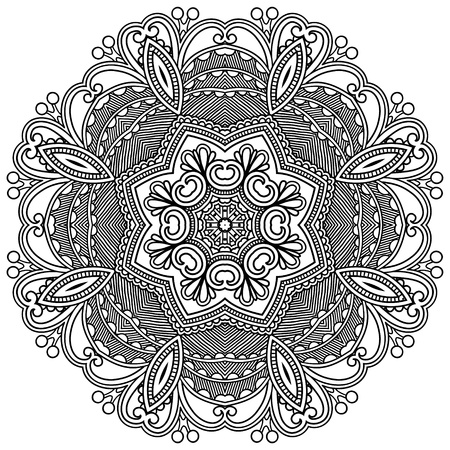 symmetry: Circle ornament, ornamental round lace