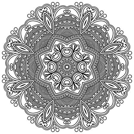 Circle ornament, sier-ronde kant Vector Illustratie