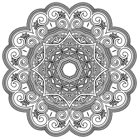 tapestry: Circle ornament, ornamental round lace