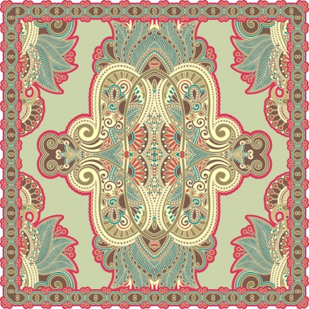 Traditional ornamental floral paisley bandanna. You can use this pattern in the design of carpet, shawl, pillow, cushion Stock Vector - 15110574