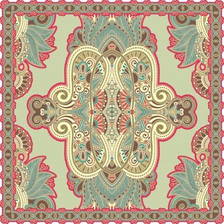 osmanisch: Traditionelle dekorative florale Paisleybandana. Sie k�nnen dieses Muster bei der Gestaltung des Teppichs verwendet, Schal, Kissen, Kissen