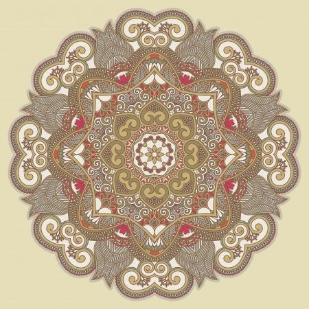 Circle ornament, ornamental round lace  Stock Vector - 15110570