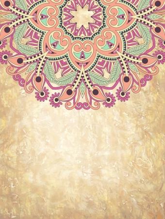 motif cachemire: conception de fleur sur le fond grunge