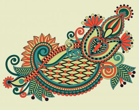 original hand draw line art ornate flower design. Ukrainian traditional style Stock Vector - 15110507