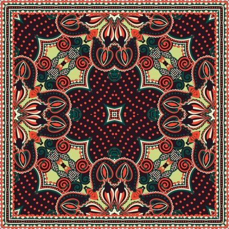 Tradicional ornamental floral pañuelo de Paisley. Puede utilizar este patrón en el diseño de la alfombra, manta, almohada, cojín