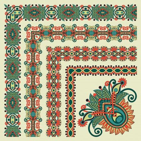 corner design: floral vintage frame design. Vector set. All components are easy editable