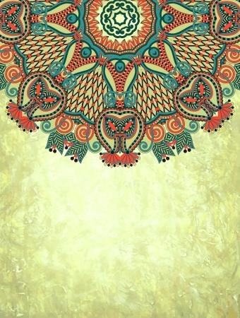 ethnic style: flower design on grunge background