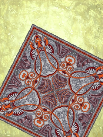 hand made: grunge de fondo con detalle alfombra con lugar para el texto. Hecho a mano y el tema de afici�n