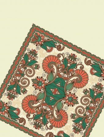 handkerchief: background with carpet detail. Hand made and hobby theme