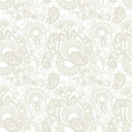 embellishments: vintage floral seamless paisley pattern Illustration