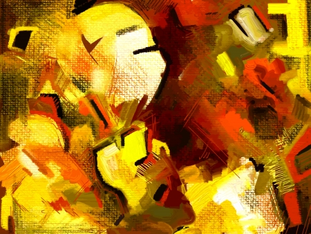 original hand draw abstract digital painting composition Ilustração