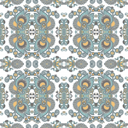 canvas texture: geometry hand draw ornate seamless flower paisley design background