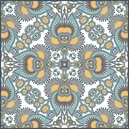neckerchief: Traditional ornamental floral paisley bandanna  You can use this pattern in the design of carpet, shawl, pillow, cushion  Illustration