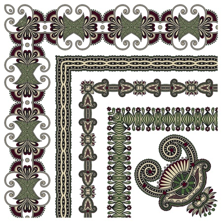 acanthus: floral vintage frame design. Vector set. All components are easy editable