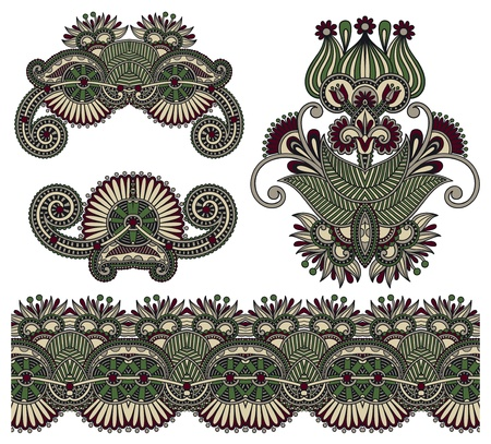 four ornamental floral adornment Stock Vector - 15110391