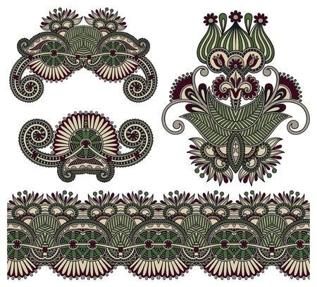 four ornamental floral adornment Stock Vector - 15110391