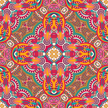 silk scarf: original retro paisley seamless pattern Illustration