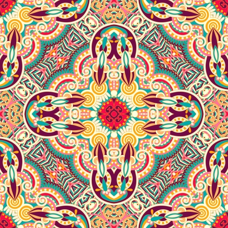 sjaal: originele retro paisley naadloze patroon Stock Illustratie