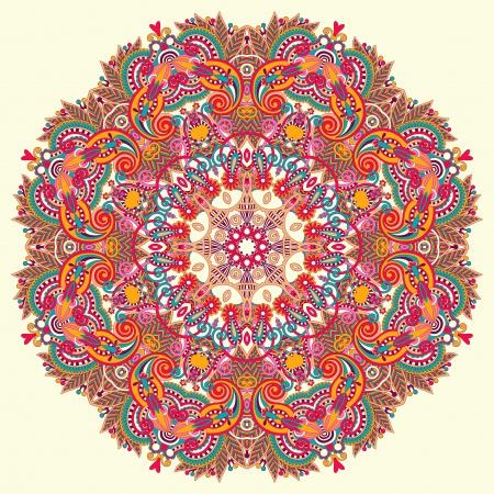 Ornamento del círculo, el encaje redondo ornamental Ilustración de vector