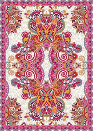 texture drapery: Ukrainian Oriental Floral Ornamental Seamless Carpet Design
