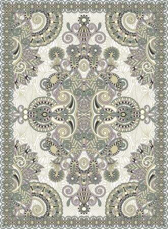 rugs: Ukrainian Oriental Floral Ornamental Seamless Carpet Design