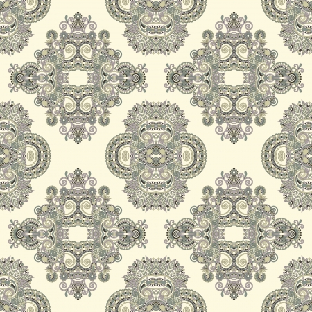 embellishment: geometry vintage floral seamless pattern