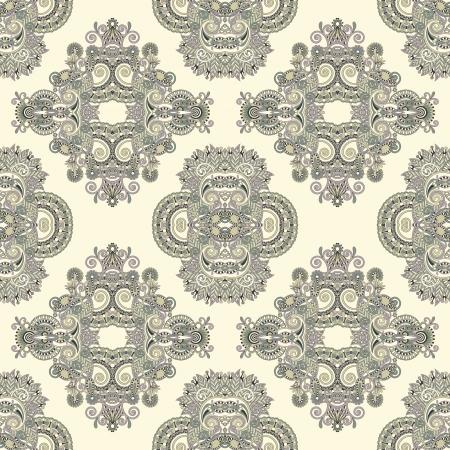 embellishments: geometry vintage floral seamless pattern