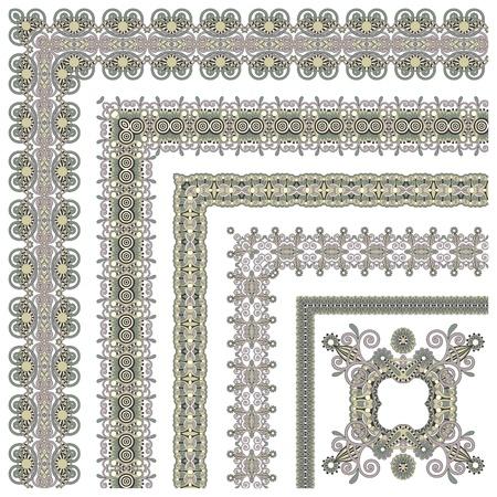 acanthus: floral vintage frame design