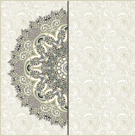 royal wedding: ornamental circle template with floral background