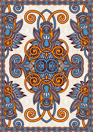 Ukrainian Oriental Floral Ornamental Seamless Carpet Design Vector