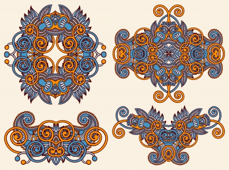 four ornamental floral adornment  Stock Vector - 15541472