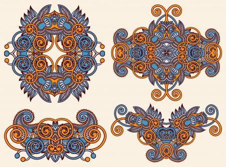 four ornamental floral adornment Stock Vector - 15541472