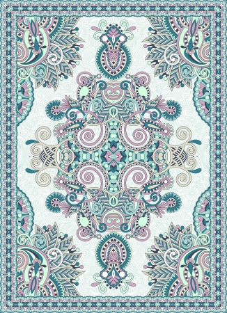 wool rugs: Ukrainian Oriental Floral Ornamental Seamless Carpet Design  Illustration