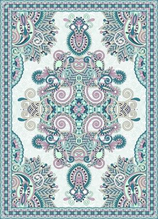 floral carpet: Ukrainian Oriental Floral Ornamental Seamless Carpet Design  Illustration