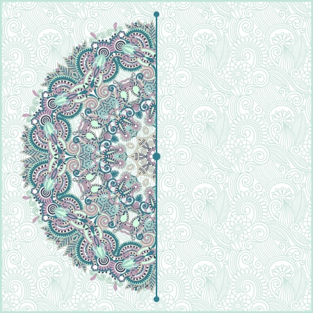 victorian wallpaper: ornamental circle template with floral background